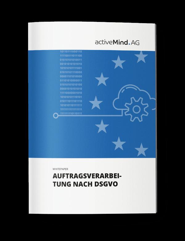 Cover des Whitepapers zur Auftragsverarbeitung gemäß DSGVO von activeMind AG