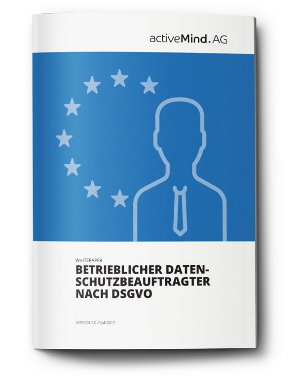 Cover des Whitepapers zum betrieblichen Datenschutzbeauftragten nach DSGVO