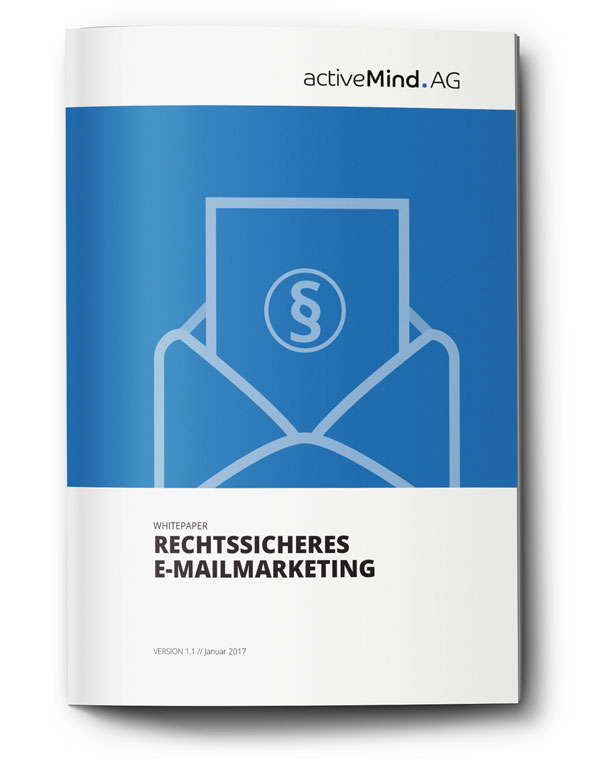Cover des Whitepapers Rechtssicheres E-Mailmarketing der activeMind AG