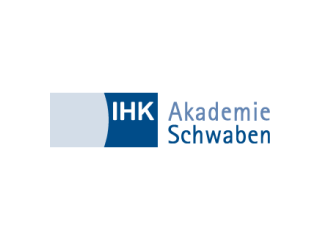 Logo IHK Akademie Schwaben Weiterbildung GmbH - Referenzkunde der activeMind AG für Datenschutz