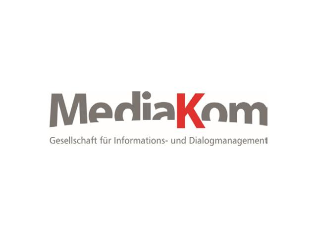 Logo der MediaKom GmbH - Referenzkunde der activeMind AG im Bereich Datensicherheit