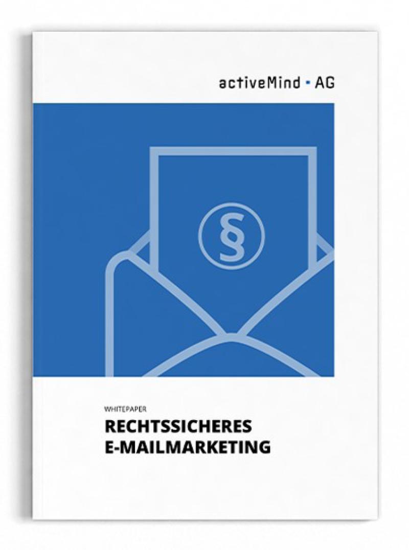 Cover des Whitepapers Rechtssicheres E-Mailmarketing der activeMind AG